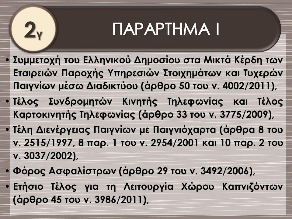 2γ ΠΑΡΑΡΤΗΜΑ Ι.