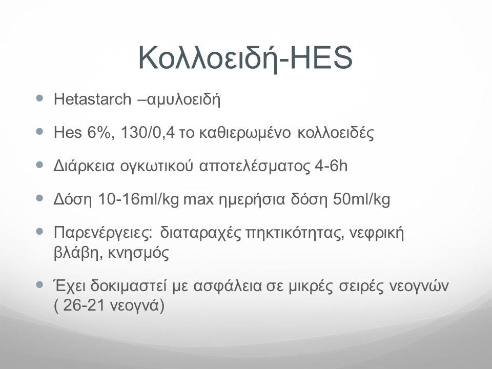 Κολλοειδή-HES Hetastarch –αμυλοειδή