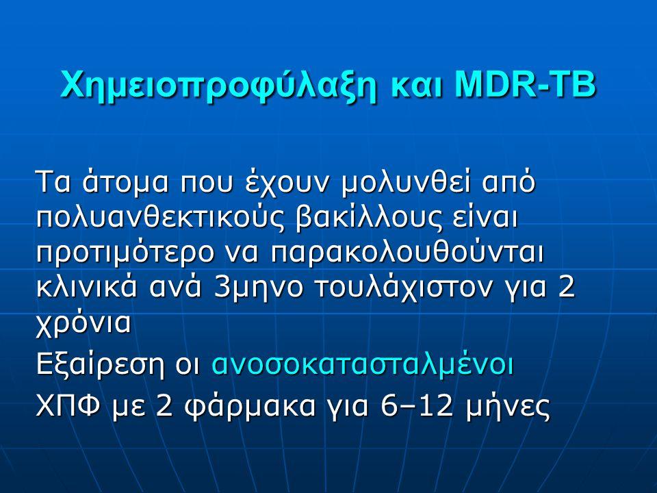 Χημειοπροφύλαξη και MDR-TB