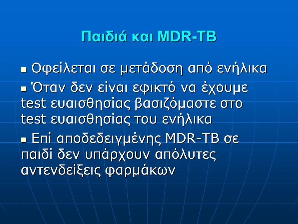 Παιδιά και MDR-TB Οφείλεται σε μετάδοση από ενήλικα