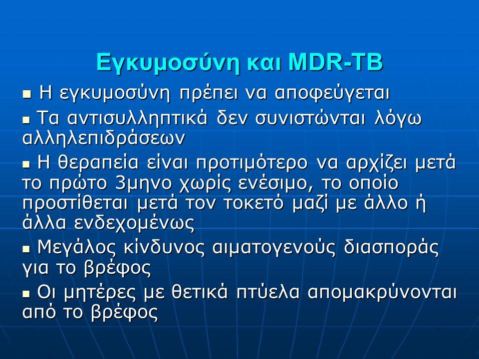 Εγκυμοσύνη και MDR-TB Η εγκυμοσύνη πρέπει να αποφεύγεται