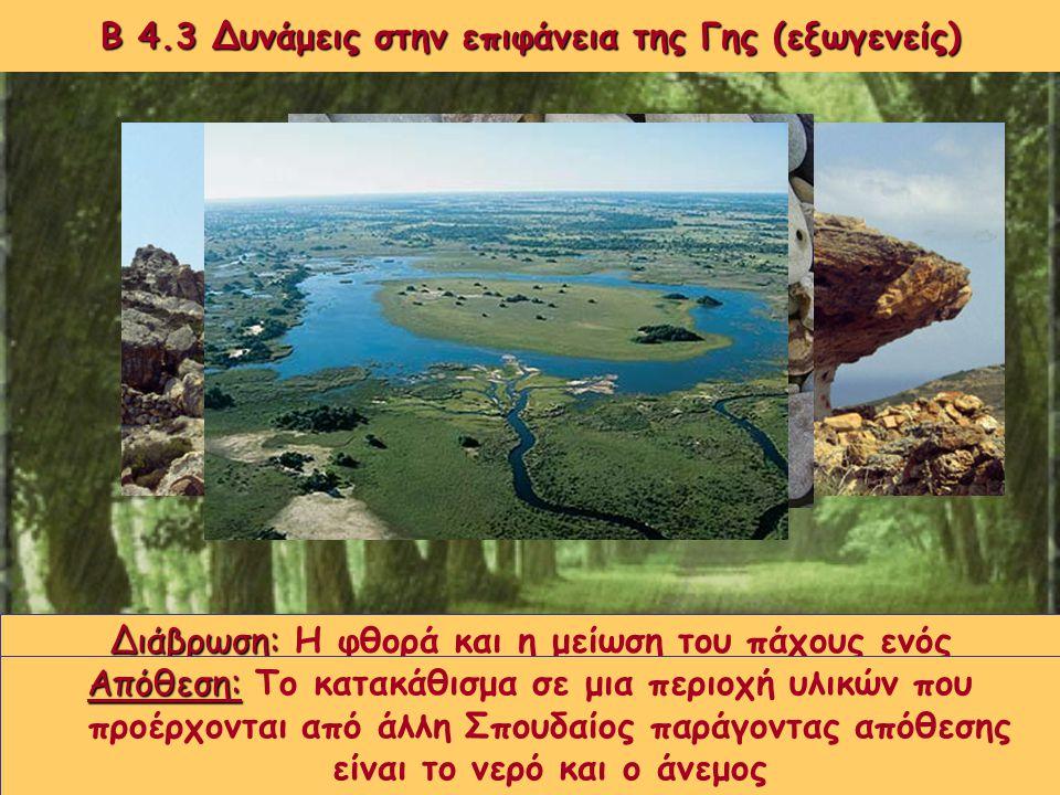 Β 4.3 Δυνάμεις στην επιφάνεια της Γης (εξωγενείς)