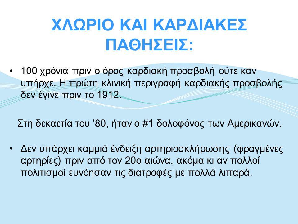 ΧΛΩΡΙΟ ΚΑΙ ΚΑΡΔΙΑΚΕΣ ΠΑΘΗΣΕΙΣ: