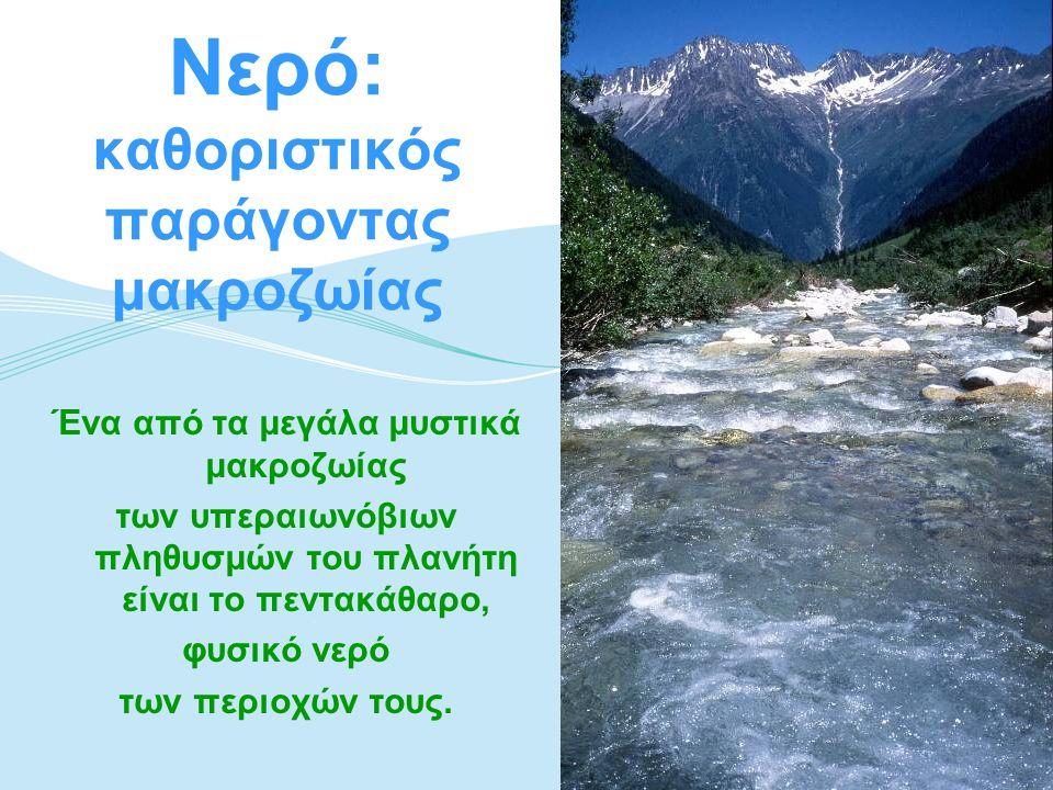 Νερό: καθοριστικός παράγοντας μακροζωίας