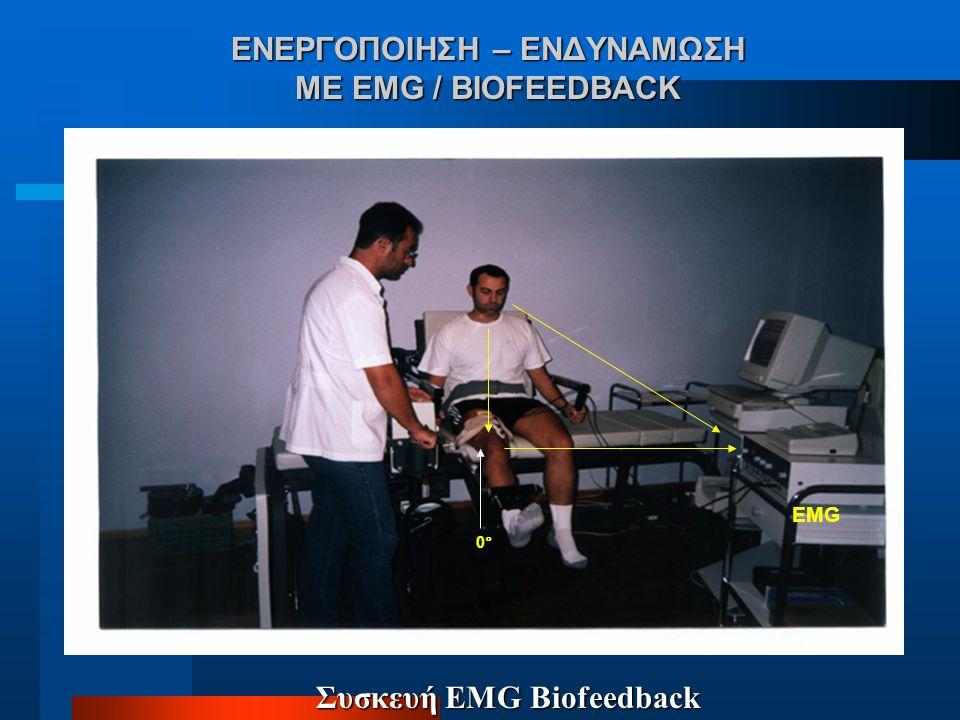 ΕΝΕΡΓΟΠΟΙΗΣΗ – ΕΝΔΥΝΑΜΩΣΗ ΜΕ EMG / BIOFEEDBACK