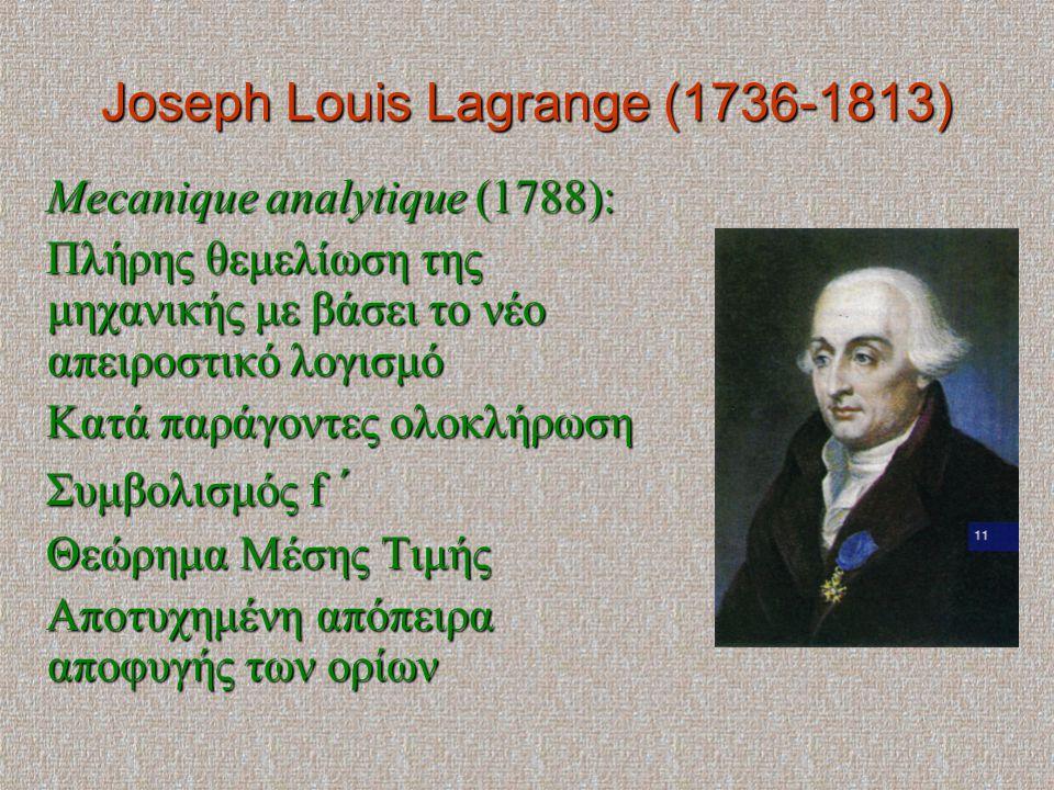 Joseph Louis Lagrange (1736-1813)