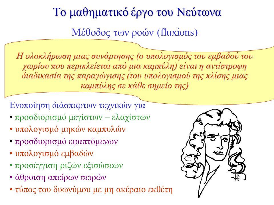 To μαθηματικό έργο του Νεύτωνα