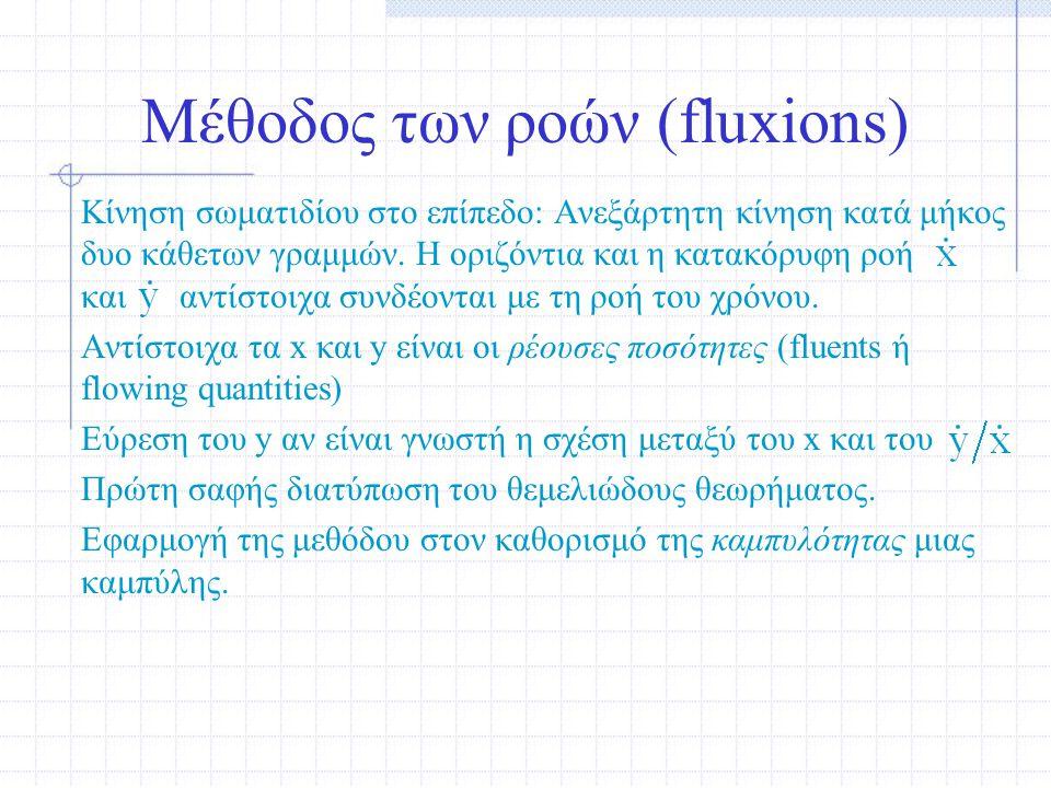 Μέθοδος των ροών (fluxions)