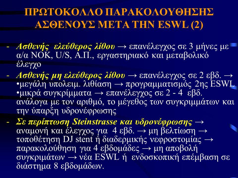 ΠΡΩΤΟΚΟΛΛΟ ΠΑΡΑΚΟΛΟΥΘΗΣΗΣ ΑΣΘΕΝΟΥΣ ΜΕΤΑ ΤΗΝ ESWL (2)
