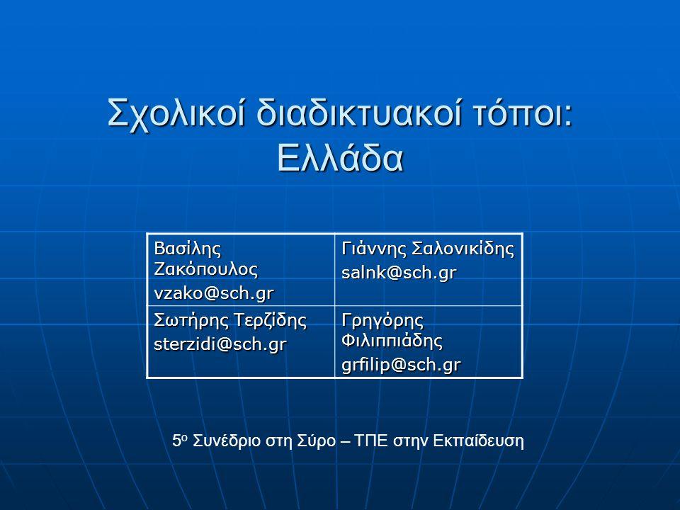 Σχολικοί διαδικτυακοί τόποι: Ελλάδα