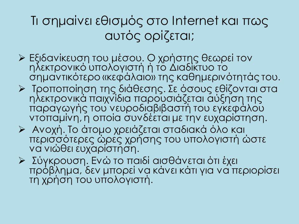 Τι σημαίνει εθισμός στο Internet και πως αυτός ορίζεται;