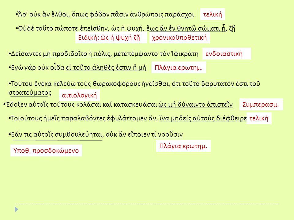 Ἆρ' οὐκ ἄν ἔλθοι, ὅπως φόϐον πᾶσιν ἀνθρώποις παράσχοι