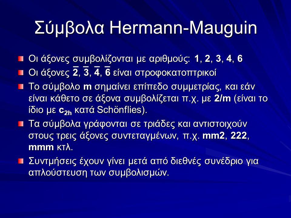 Σύμβολα Hermann-Mauguin