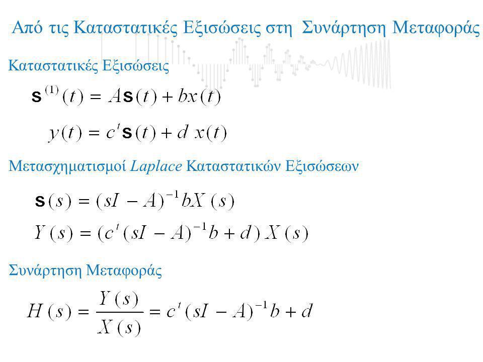 Από τις Καταστατικές Εξισώσεις στη Συνάρτηση Μεταφοράς