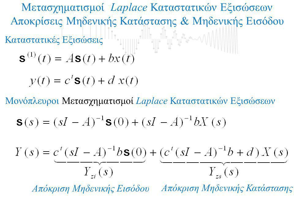 Μετασχηματισμοί Laplace Καταστατικών Εξισώσεων