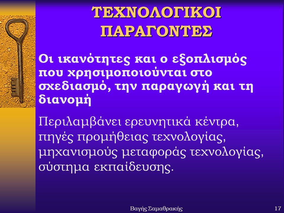 ΤΕΧΝΟΛΟΓΙΚΟΙ ΠΑΡΑΓΟΝΤΕΣ
