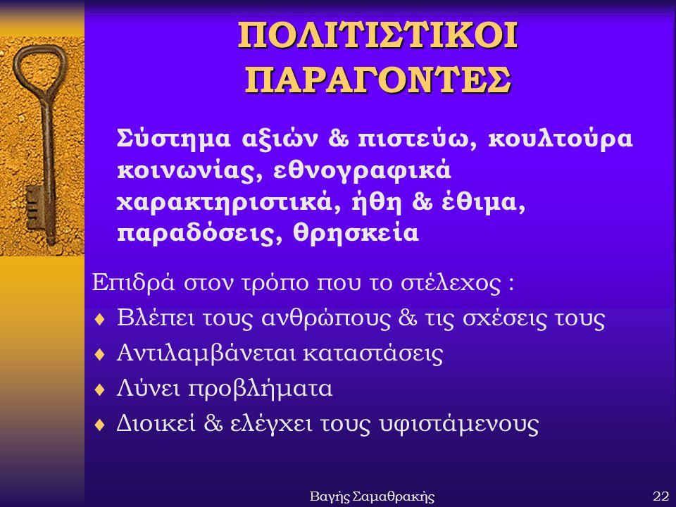 ΠΟΛΙΤΙΣΤΙΚΟΙ ΠΑΡΑΓΟΝΤΕΣ