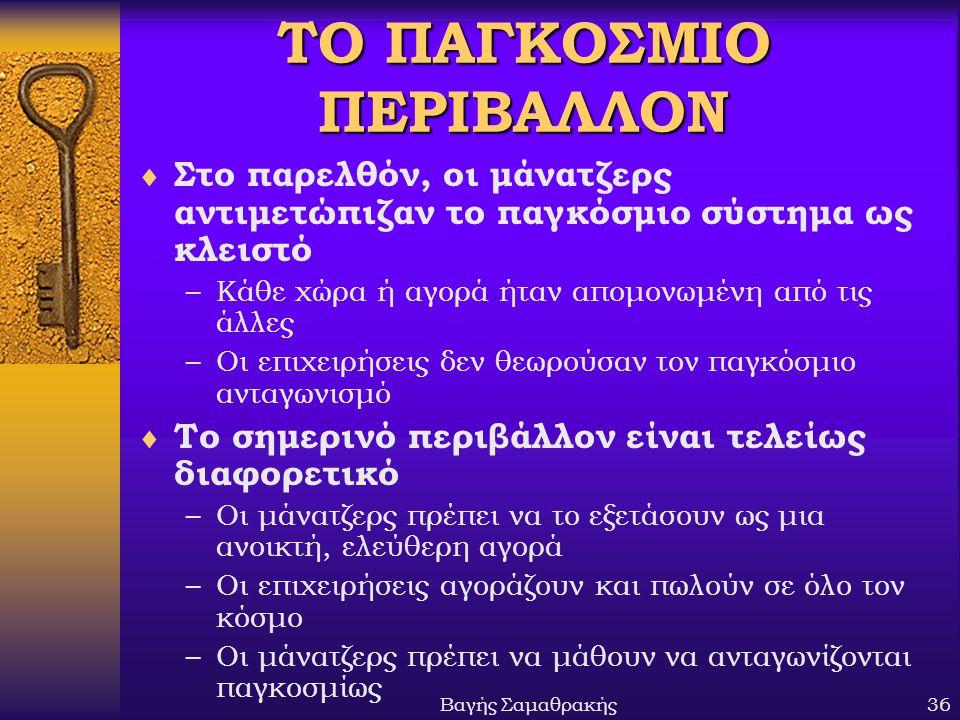 ΤΟ ΠΑΓΚΟΣΜΙΟ ΠΕΡΙΒΑΛΛΟΝ