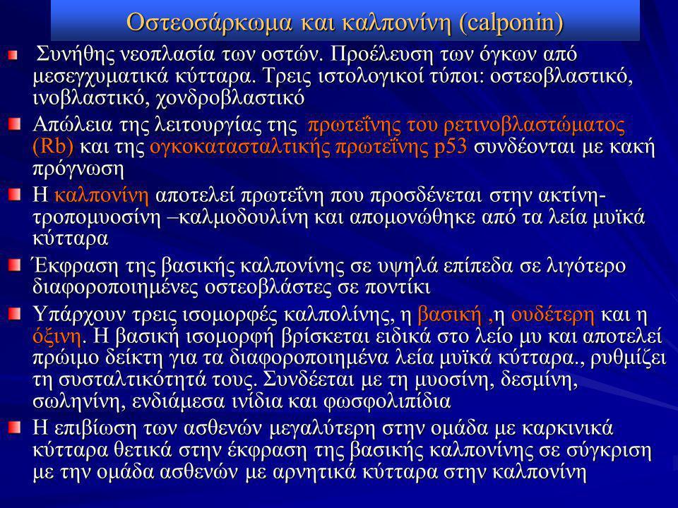 Οστεοσάρκωμα και καλπονίνη (calponin)