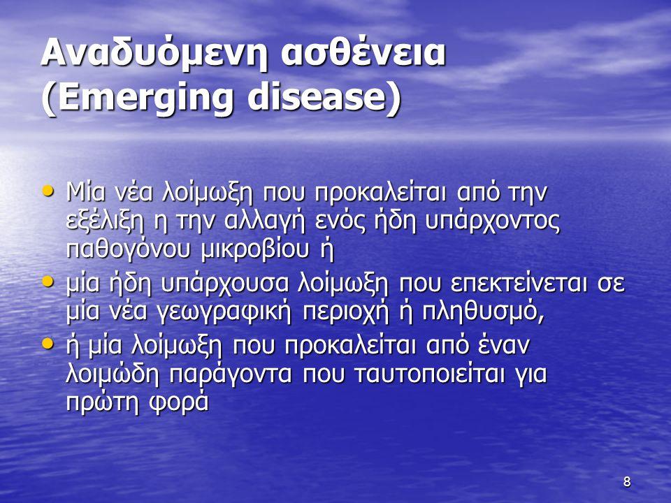Αναδυόμενη ασθένεια (Emerging disease)