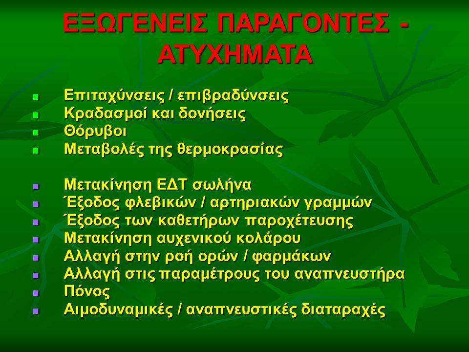 ΕΞΩΓΕΝΕΙΣ ΠΑΡΑΓΟΝΤΕΣ - ΑΤΥΧΗΜΑΤΑ
