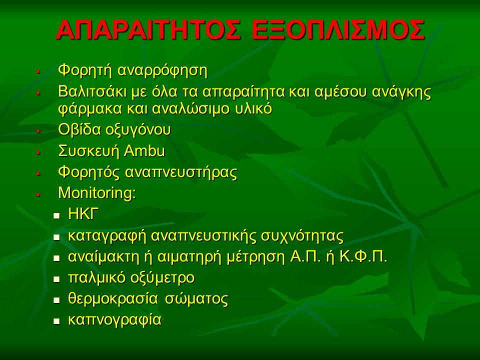 ΑΠΑΡΑΙΤΗΤΟΣ ΕΞΟΠΛΙΣΜΟΣ