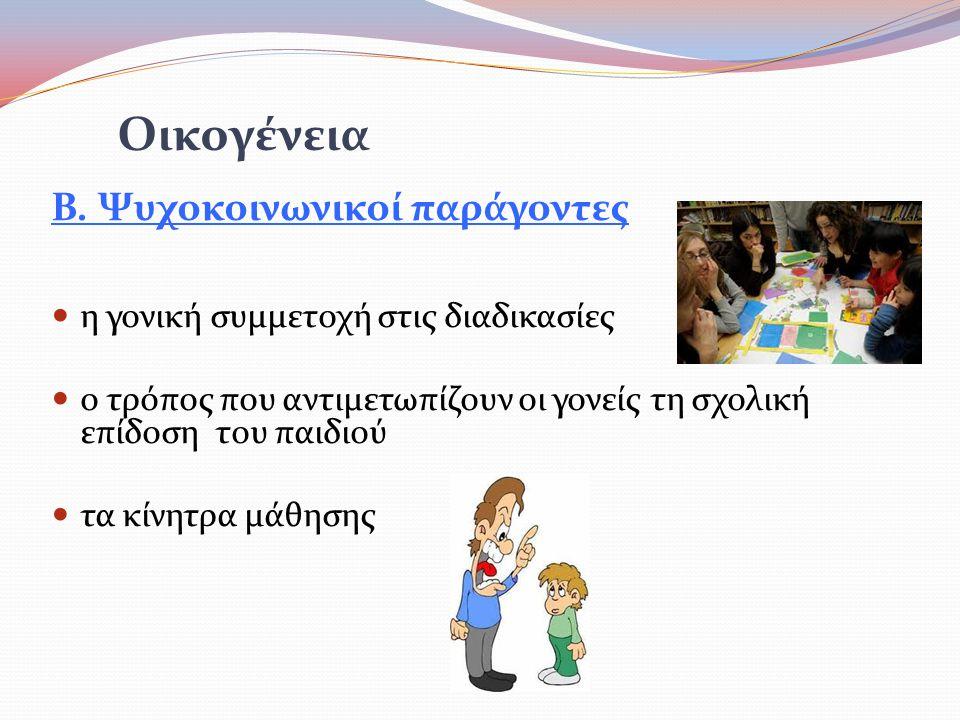 Οικογένεια Β. Ψυχοκοινωνικοί παράγοντες