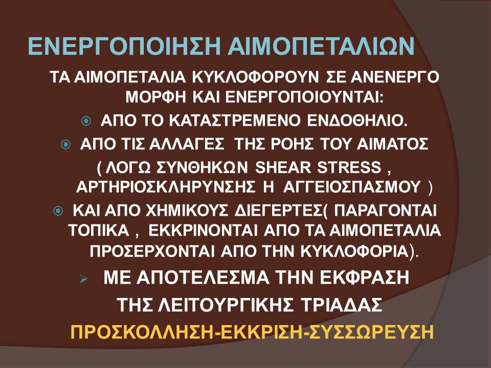 ΕΝΕΡΓΟΠΟΙΗΣΗ ΑΙΜΟΠΕΤΑΛΙΩΝ