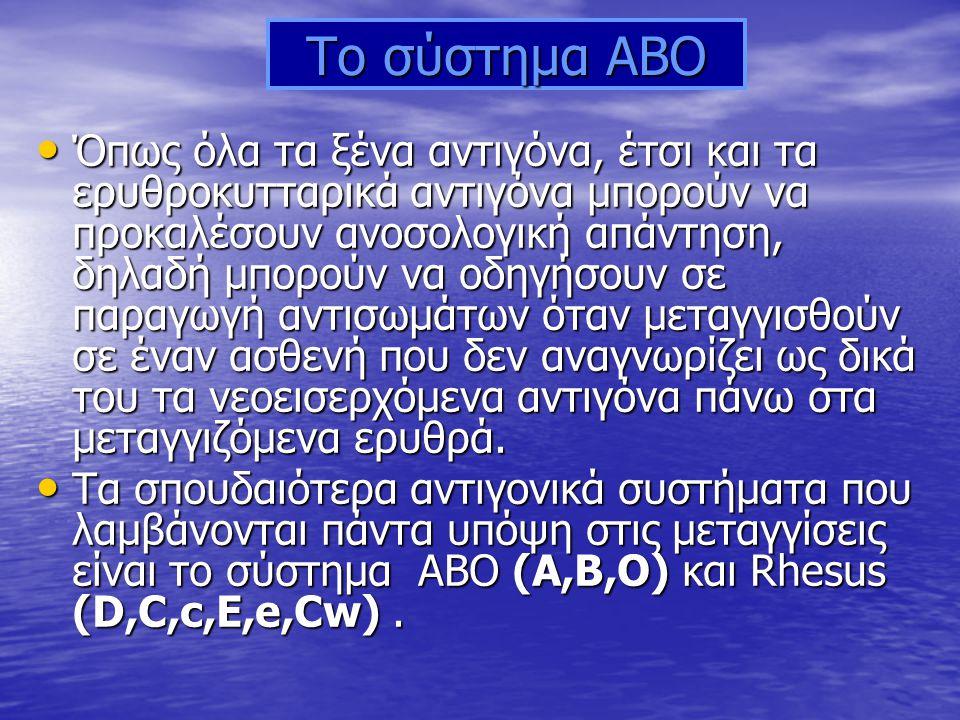 Το σύστημα ABO