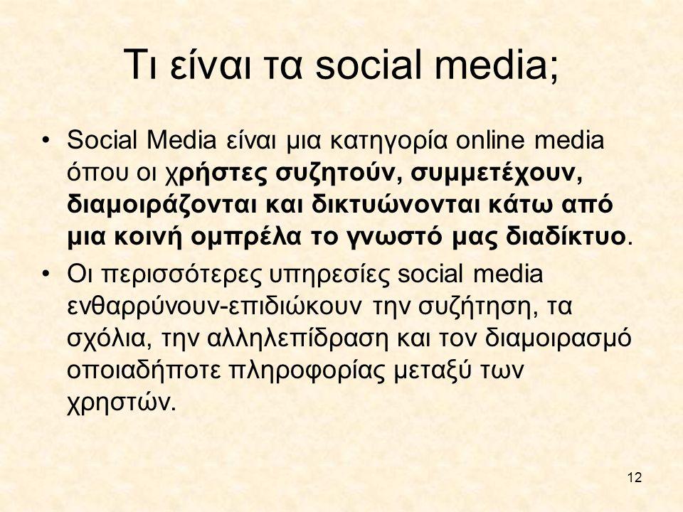 Τι είναι τα social media;