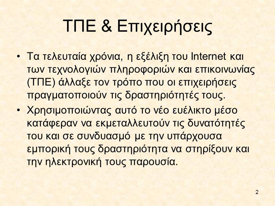 ΤΠΕ & Επιχειρήσεις