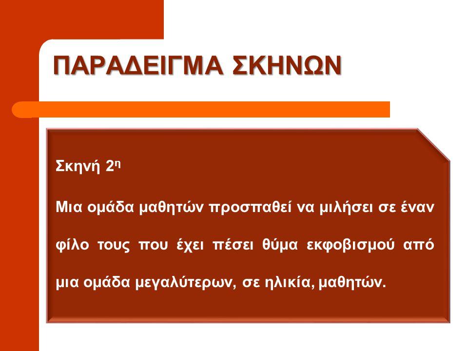 ΠΑΡΑΔΕΙΓΜΑ ΣΚΗΝΩΝ Σκηνή 2η