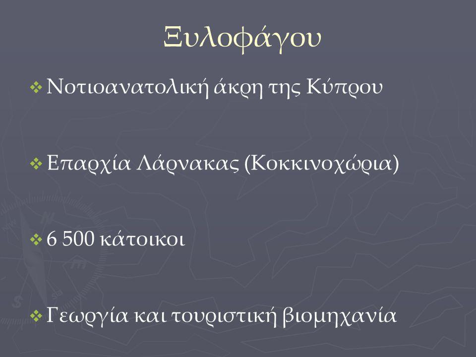 Ξυλοφάγου Νοτιοανατολική άκρη της Κύπρου