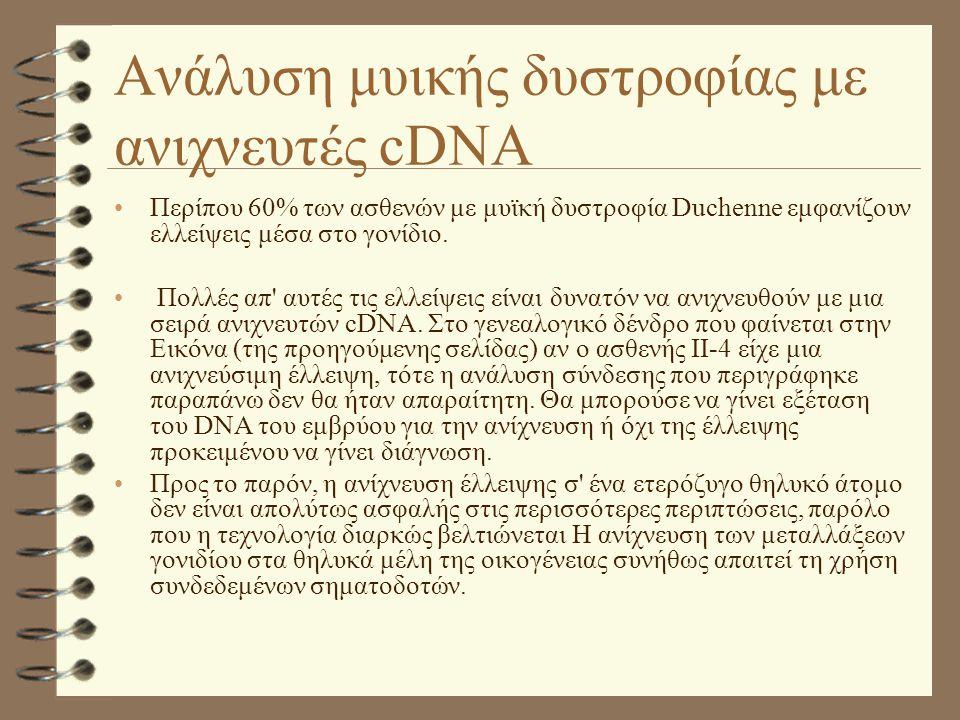 Ανάλυση μυικής δυστροφίας με ανιχνευτές cDNA