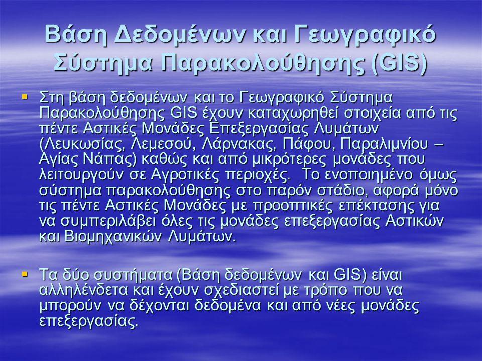 Βάση Δεδομένων και Γεωγραφικό Σύστημα Παρακολούθησης (GIS)