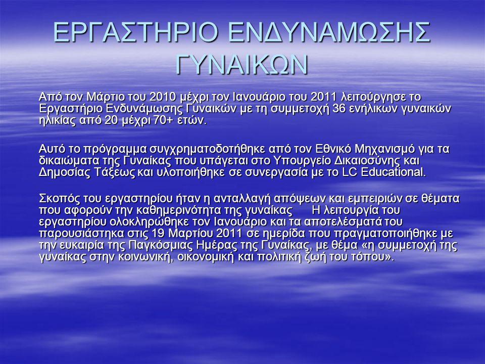 ΕΡΓΑΣΤΗΡΙΟ ΕΝΔΥΝΑΜΩΣΗΣ ΓΥΝΑΙΚΩΝ