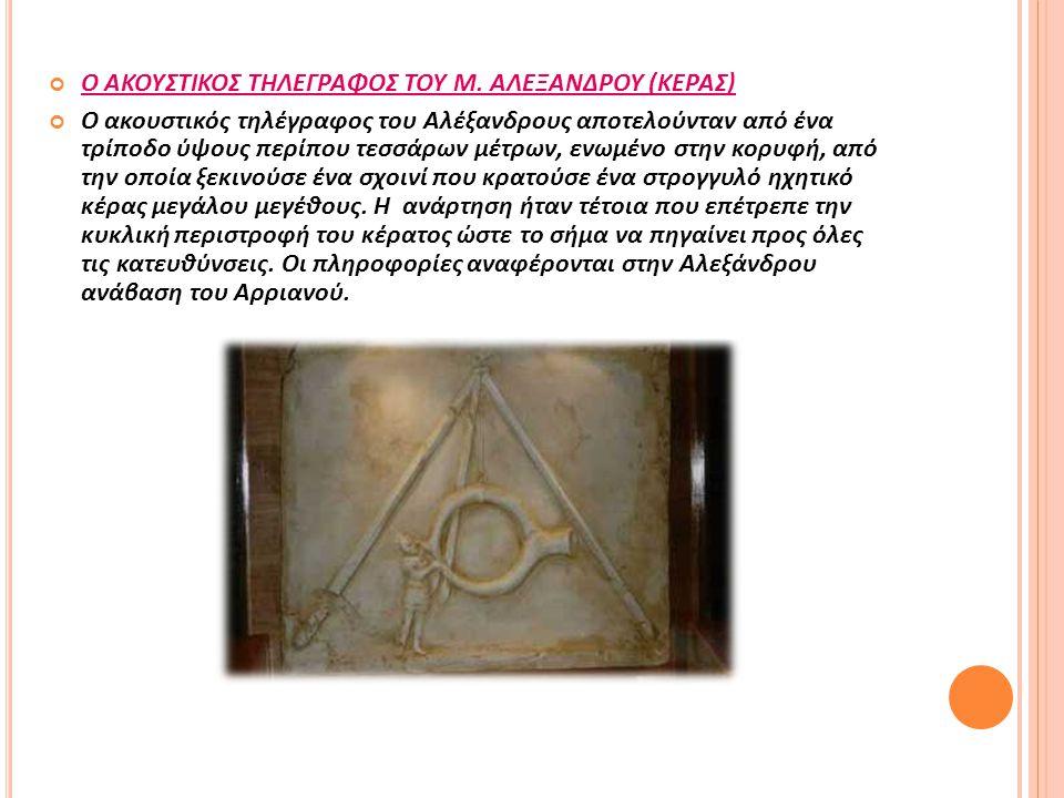 Ο ΑΚΟΥΣΤΙΚΟΣ ΤΗΛΕΓΡΑΦΟΣ ΤΟΥ Μ. ΑΛΕΞΑΝΔΡΟΥ (ΚΕΡΑΣ)
