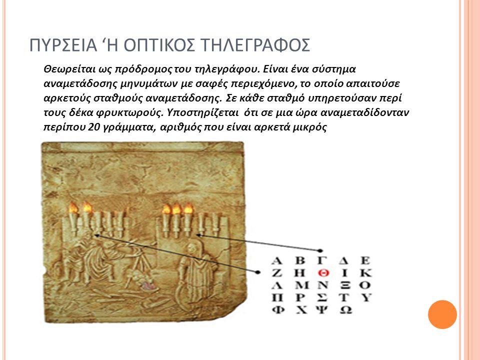 ΠΥΡΣΕΙΑ 'Η ΟΠΤΙΚΟΣ ΤΗΛΕΓΡΑΦΟΣ