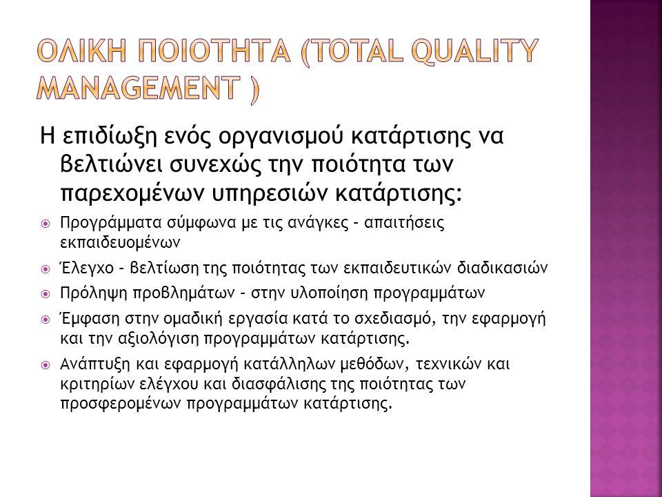 Ολικη ποιοτητα (Total quality management )