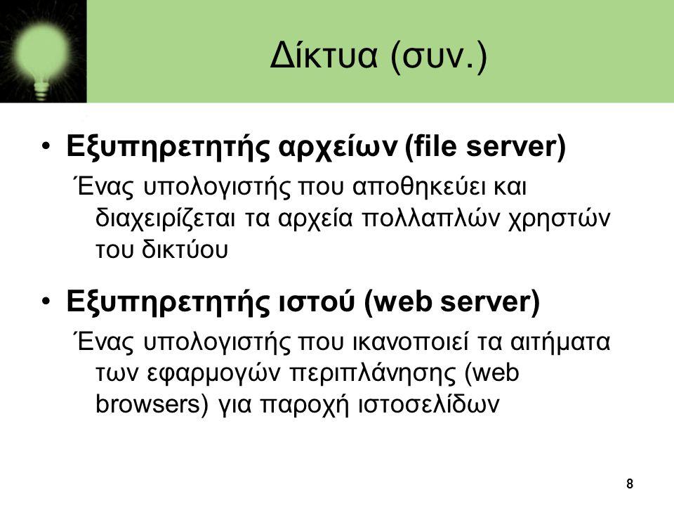 Δίκτυα (συν.) Εξυπηρετητής αρχείων (file server)
