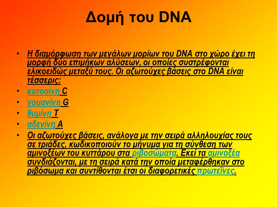 Δομή του DNA