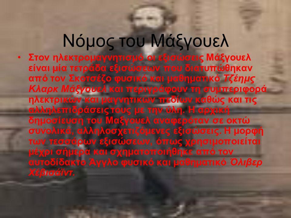 Νόμος του Μάξγουελ