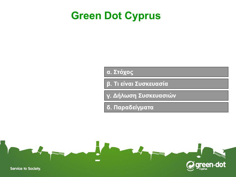 Green Dot Cyprus α. Στόχος β. Τι είναι Συσκευασία
