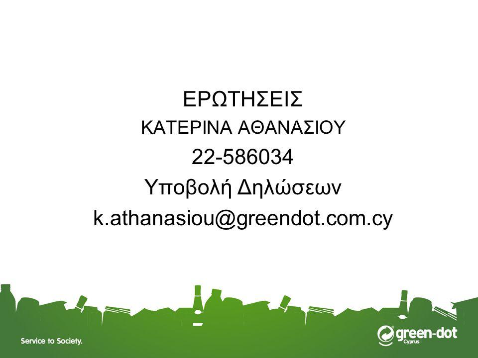 ΕΡΩΤΗΣΕΙΣ 22-586034 Υποβολή Δηλώσεων k.athanasiou@greendot.com.cy