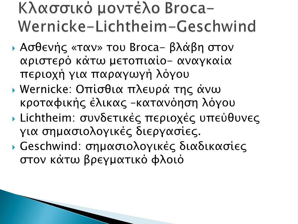 Κλασσικό μοντέλο Broca-Wernicke-Lichtheim-Geschwind