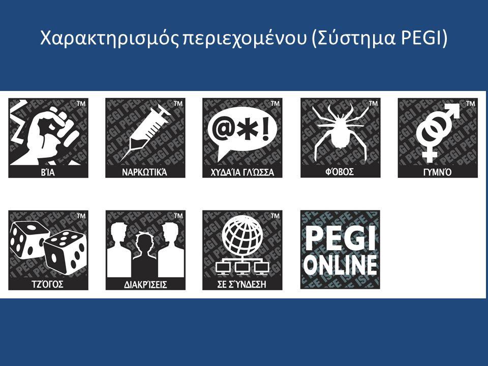 Χαρακτηρισμός περιεχομένου (Σύστημα PEGI)