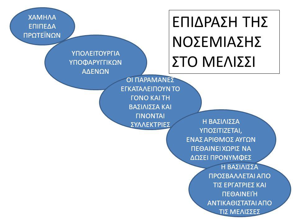 ΕΠΙΔΡΑΣΗ ΤΗΣ ΝΟΣΕΜΙΑΣΗΣ ΣΤΟ ΜΕΛΙΣΣΙ