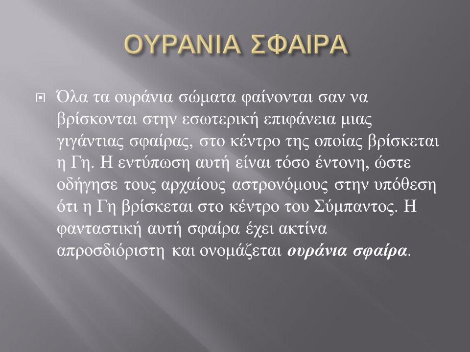 ΟΥΡΑΝΙΑ ΣΦΑΙΡΑ