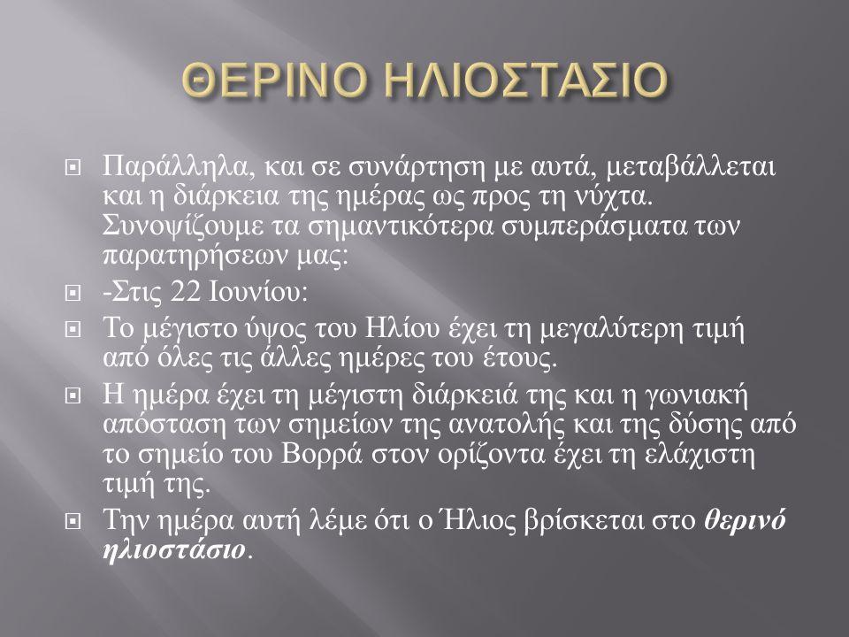 ΘΕΡΙΝΟ ΗΛΙΟΣΤΑΣΙΟ