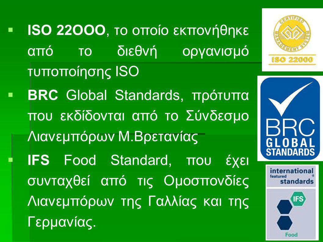 ISO 22ΟΟΟ, το οποίο εκπονήθηκε από το διεθνή οργανισμό τυποποίησης ΙSO